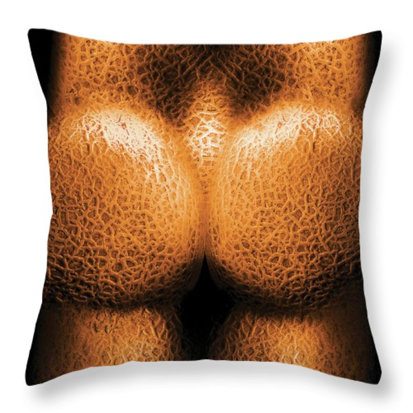 Nudist - Just Cheeky Throw Pillow by Mike Savad