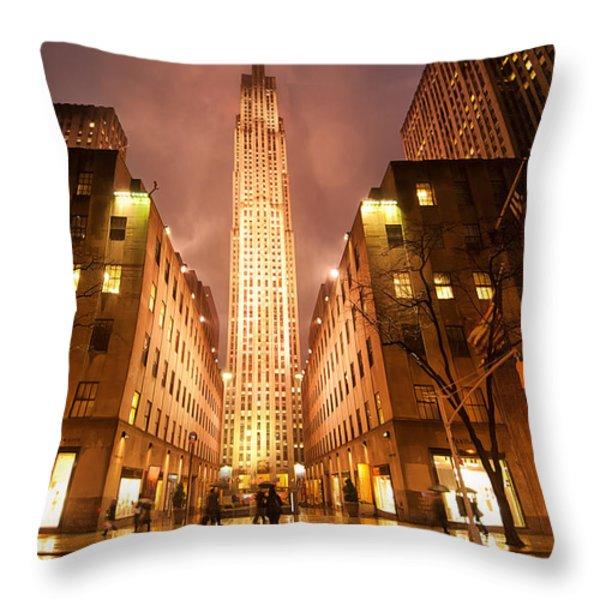 NYC054 Throw Pillow by Svetlana Sewell
