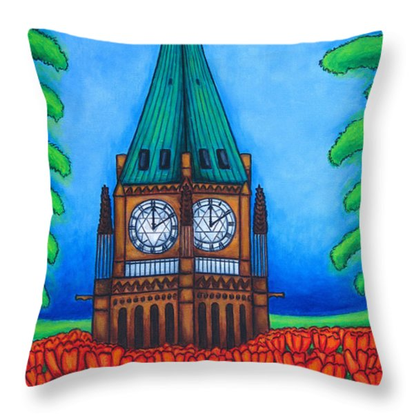 O Canada Throw Pillow by Lisa  Lorenz