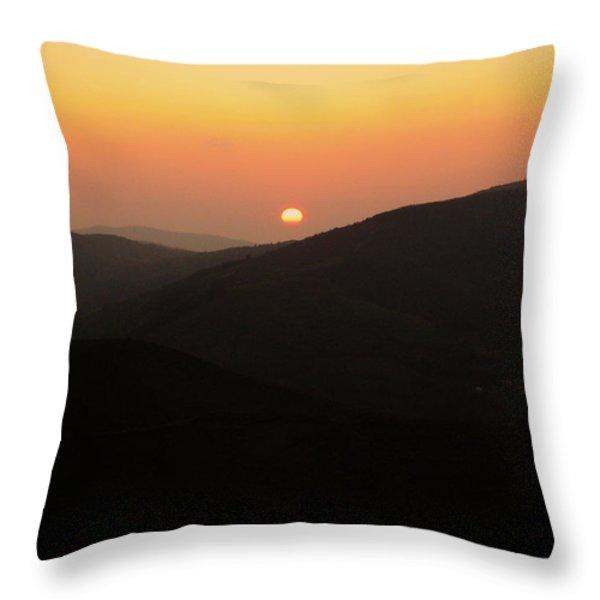 O Cebreiro Throw Pillow by Oliver Johnston