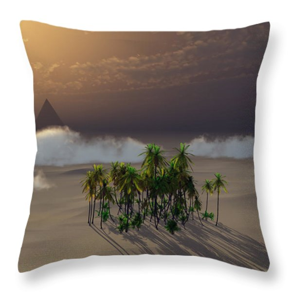 Oasis Throw Pillow by Richard Rizzo