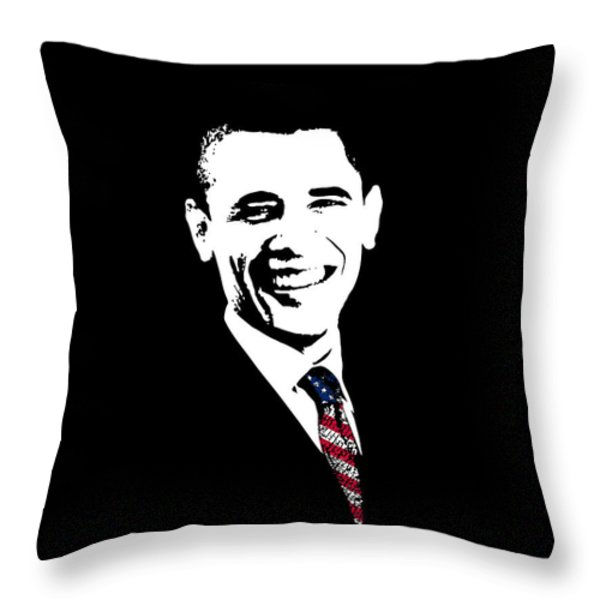 Obama Throw Pillow by War Is Hell Store