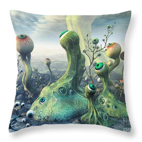 Observation Throw Pillow by Jutta Maria Pusl