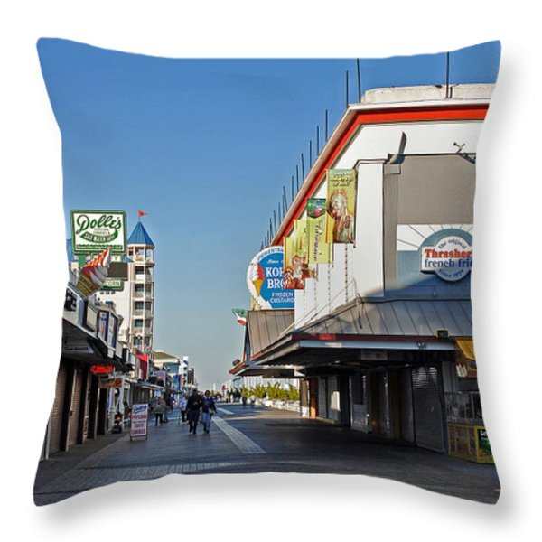 OC BOARDWALK Throw Pillow by Skip Willits