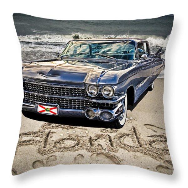 ocean drive Throw Pillow by Joachim G Pinkawa