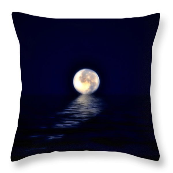 Ocean Moon Throw Pillow by Bill Cannon