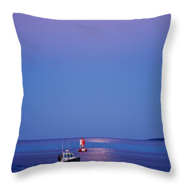 Ocean Moonrise Throw Pillow by Steve Gadomski