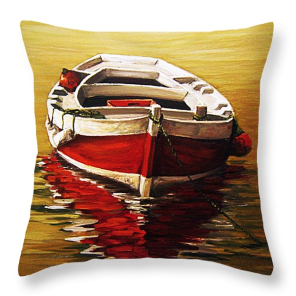Ocre S Sea Throw Pillow by Natalia Tejera