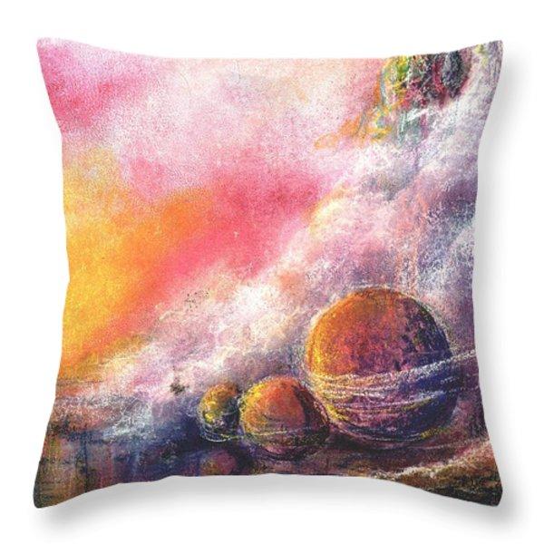 Odyessy Throw Pillow by Melody Horton Karandjeff