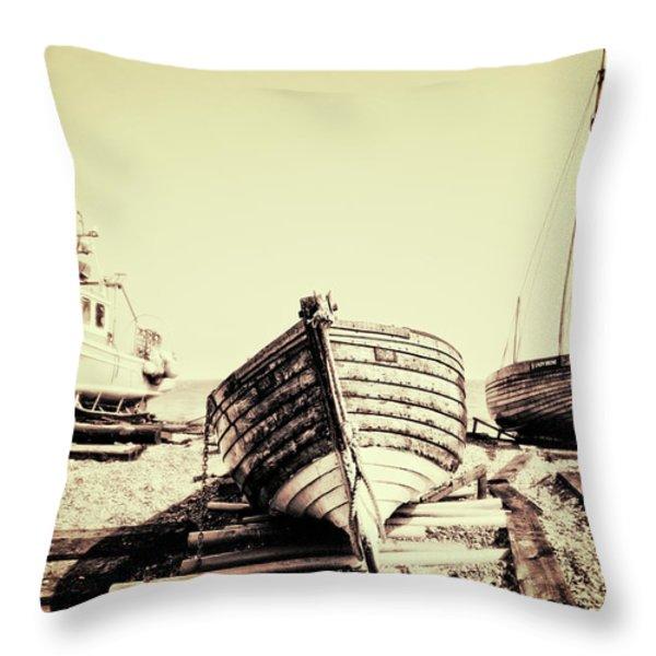 of different eras Throw Pillow by Meirion Matthias