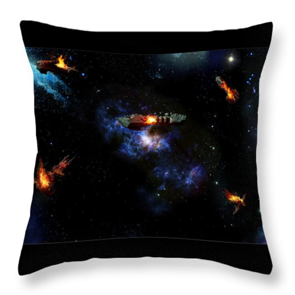 Off The Shoulder Of Orion Throw Pillow by Joseph Soiza