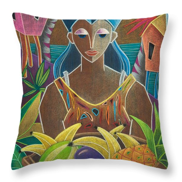 Ofrendas de mi tierra Throw Pillow by Oscar Ortiz
