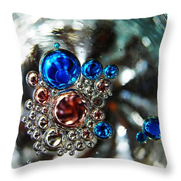 Oil and Water 16 Throw Pillow by Sarah Loft