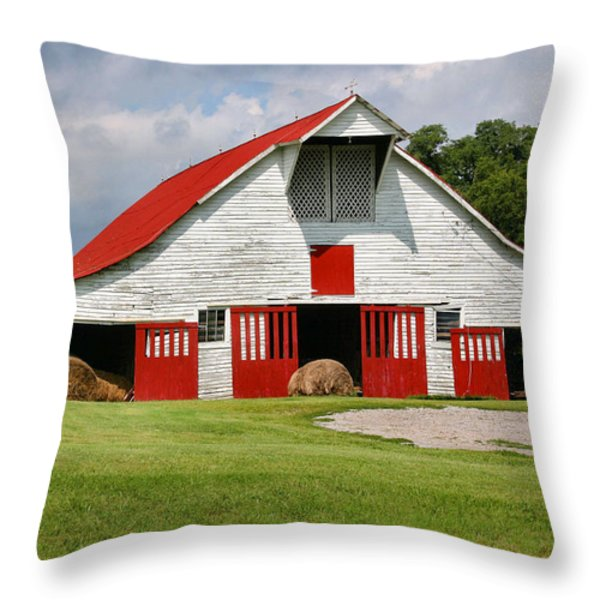 Old Barn Throw Pillow by Kristin Elmquist