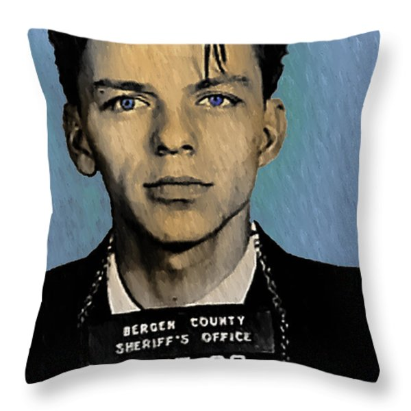 Old Blue Eyes - Frank Sinatra Throw Pillow by Bill Cannon