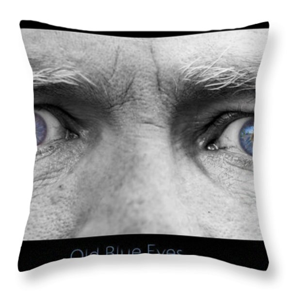 Old Blue Eyes Poster Print Throw Pillow by James BO  Insogna