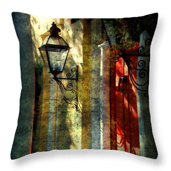 Old Charleston Sc Throw Pillow by Susanne Van Hulst
