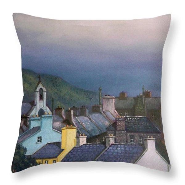 Old Copper Mining Town Throw Pillow by Sean Conlon