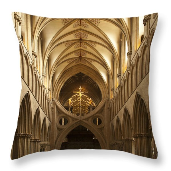 Old English Style Cathedral Throw Pillow by Heiko Koehrer-Wagner