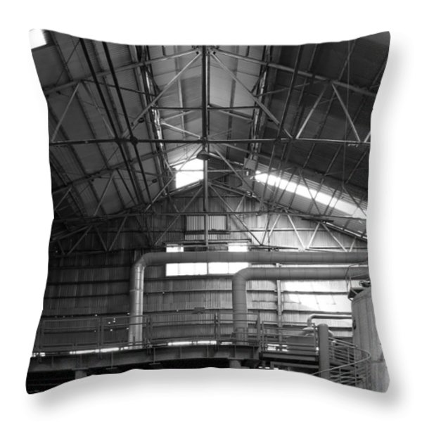 Old Factory Throw Pillow by Yali Shi