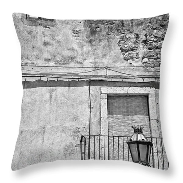 Old house in Taormina Sicily Throw Pillow by Silvia Ganora