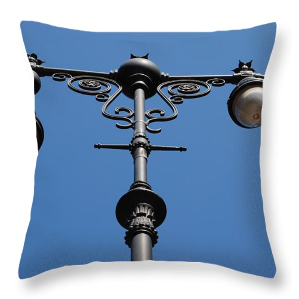 Old Lamppost Throw Pillow by Rob Hans