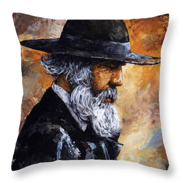 Old Man Throw Pillow by Emerico Imre Toth