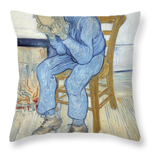 Old Man In Sorrow Throw Pillow by Vincent van Gogh