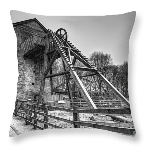 Old Mine Throw Pillow by Adrian Evans