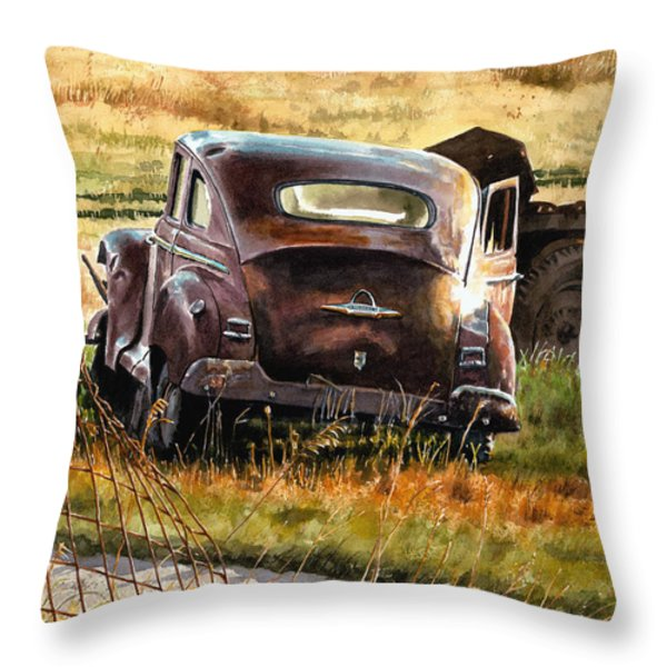 Old Plymouth Throw Pillow by Tom Hedderich