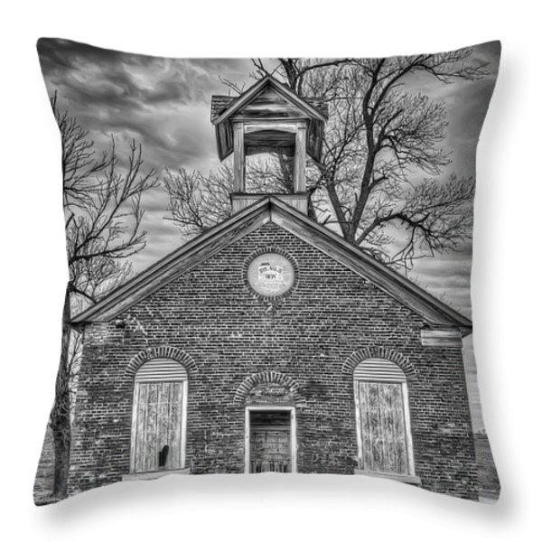 Old School Throw Pillow by Scott Norris