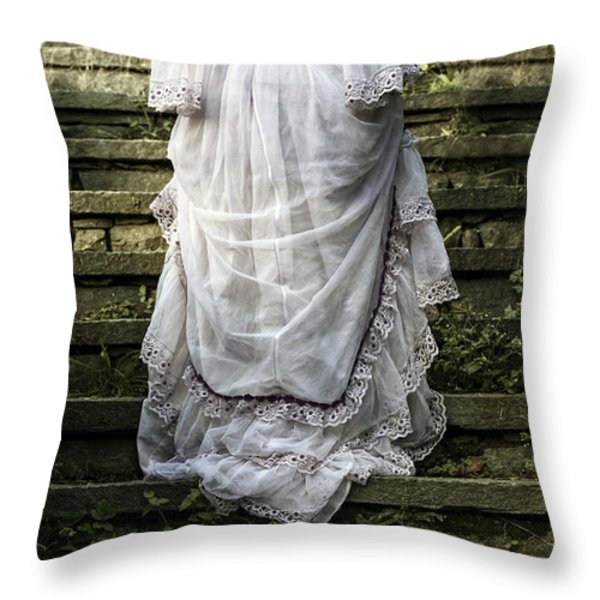 Old Stone Stairs Throw Pillow by Joana Kruse