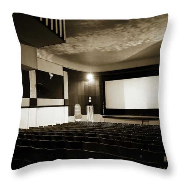 Old theater 2 Throw Pillow by Marilyn Hunt