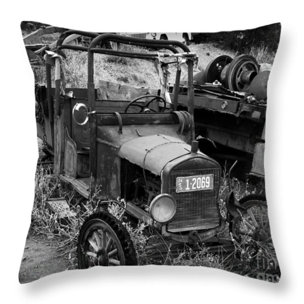 Old Times 2 Throw Pillow by Perry Webster