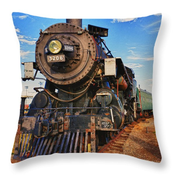Old Train Throw Pillow by Garry Gay