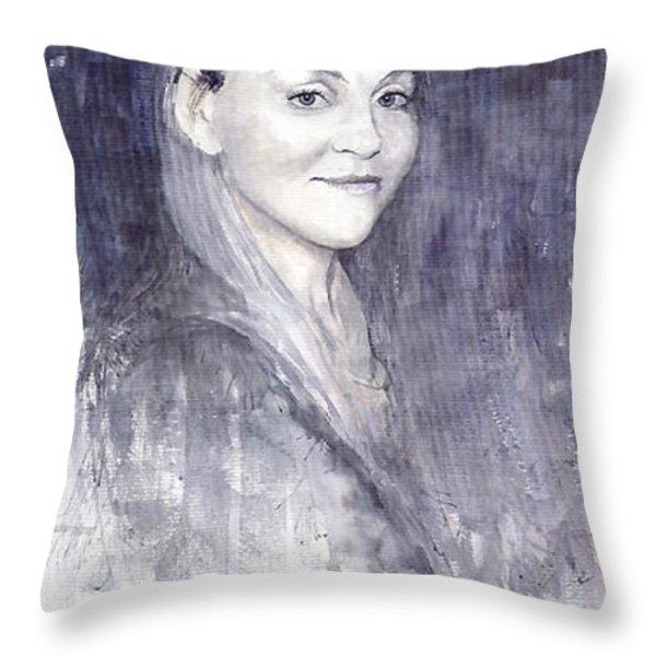 Olga Throw Pillow by Yuriy  Shevchuk