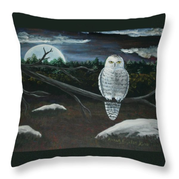 Omens of Change Throw Pillow by Karen Giles