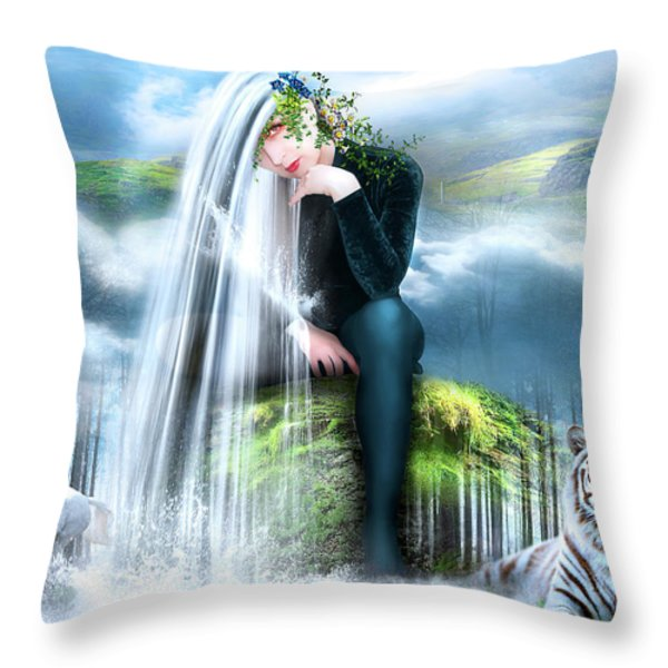 On a Watch Throw Pillow by Svetlana Sewell