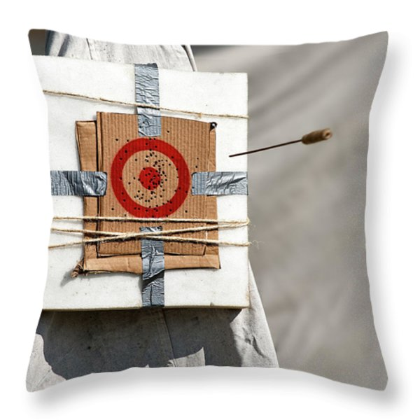 On Target Throw Pillow by Christopher Holmes
