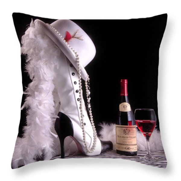 On The Town Throw Pillow by Tom Mc Nemar