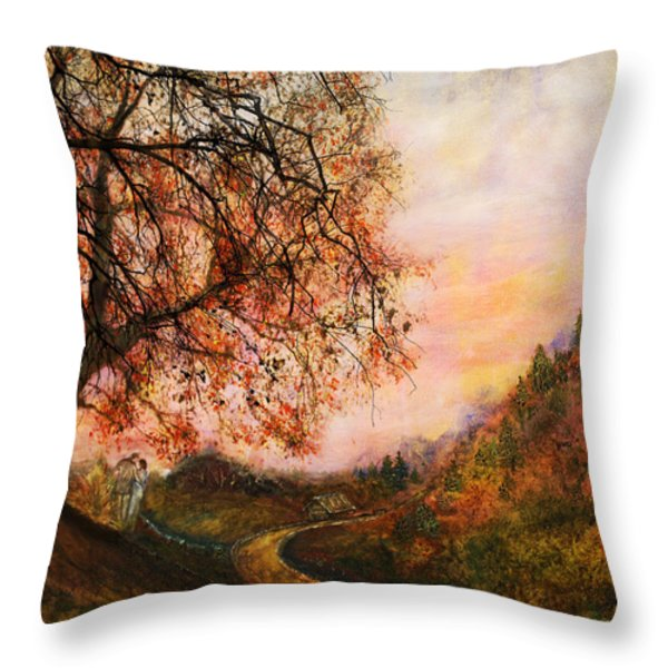 Once Upon October Throw Pillow by Patricia Motley