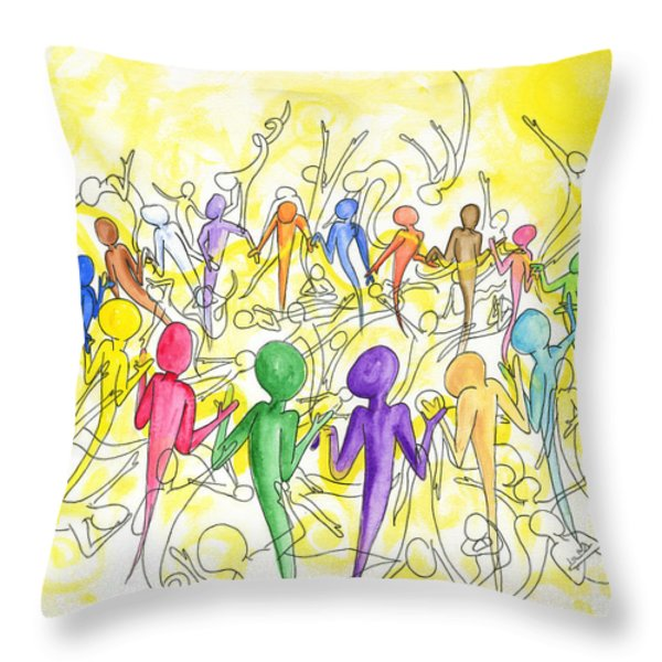 One Breath Throw Pillow by Laura Brightwood
