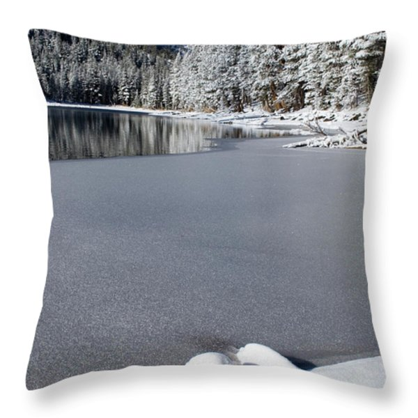 One Cool Morning Throw Pillow by Chris Brannen