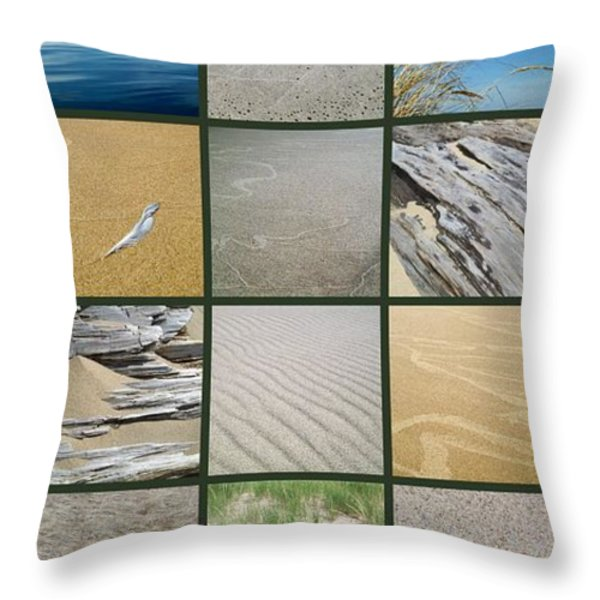 One Day at the Beach ll Throw Pillow by Michelle Calkins