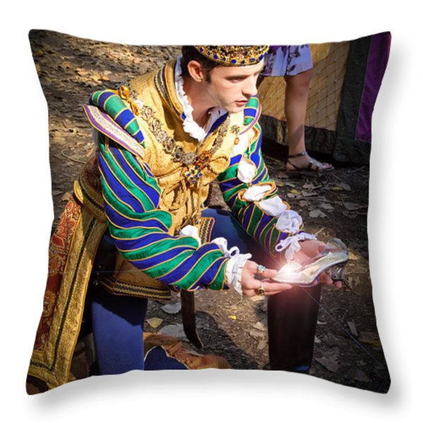 One Day My Prince Will Come Throw Pillow by Andee Design
