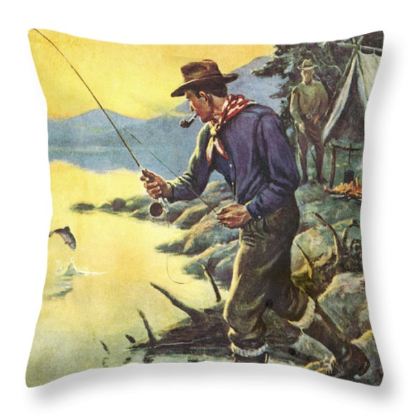 One for Breakfast Throw Pillow by JQ Licensing