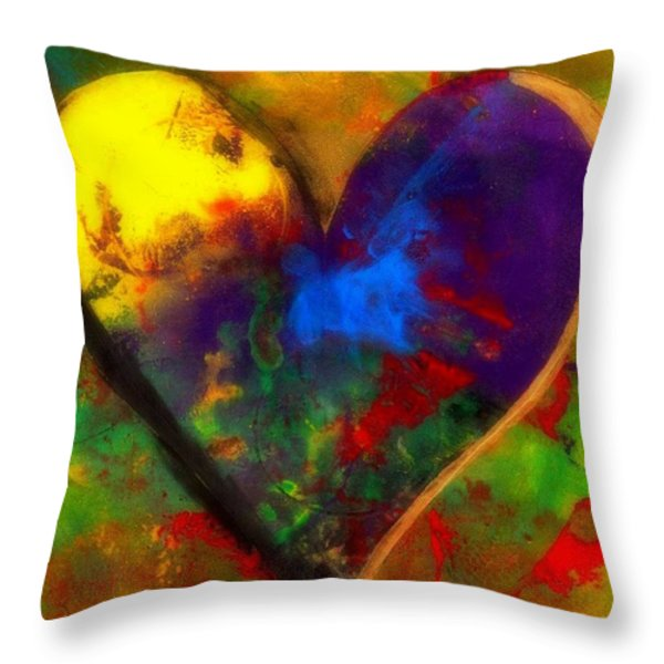 One Love Throw Pillow by WBK