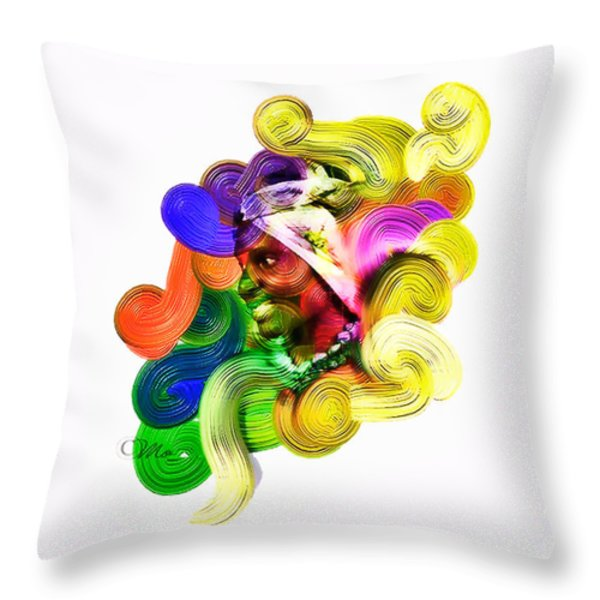One Part 2 Throw Pillow by Mo T