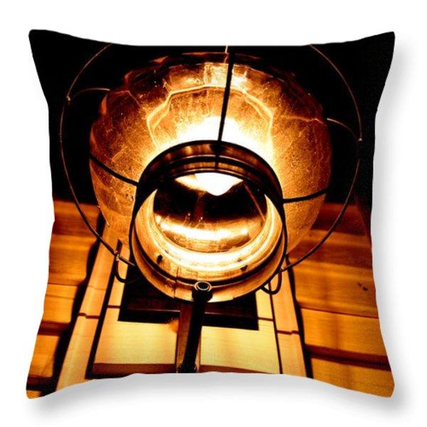 Onion Lamp At Night Throw Pillow by Robert Morin
