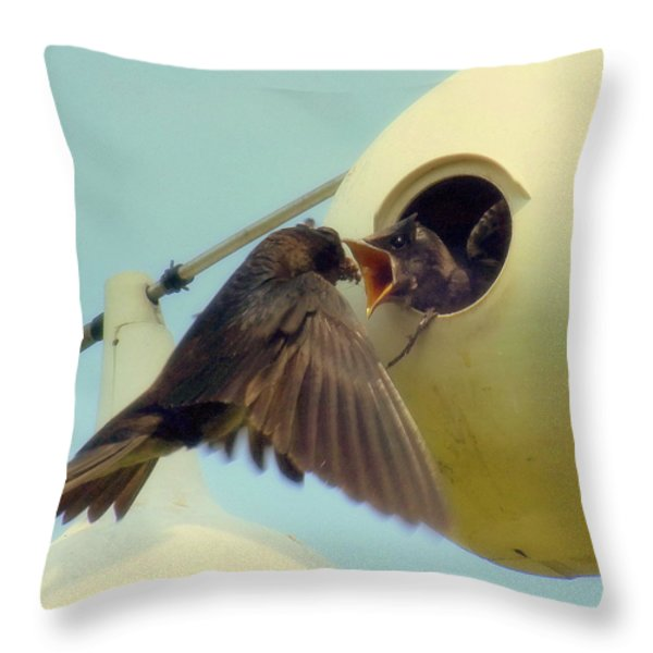 Open Wide Throw Pillow by KAREN WILES